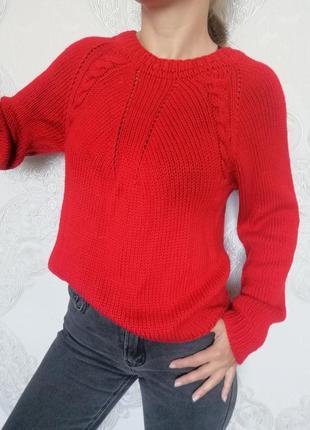 Шикарный алый свитер
