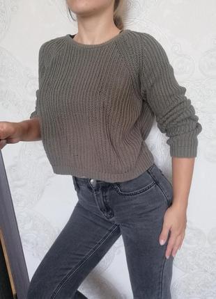 Укороченный свитер pull&bear