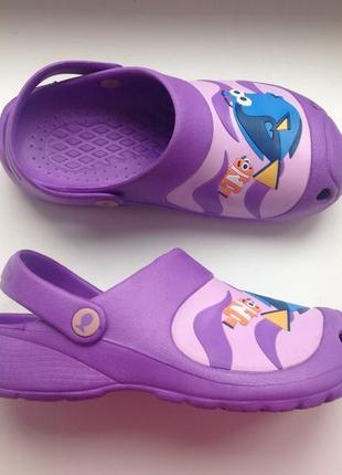 Disney pixar 33 р шлепки крокс кроксы босоножки