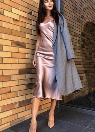 Ультрамодное шелковое платье комбинация ткань армани шелк