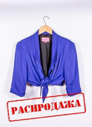Синий пиджак летний, летний жакет синий, женский пиджак синий, короткий пиджак