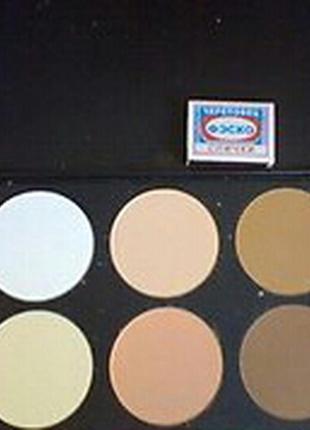 Мас палитра сухих корректоров пудр для макияжа 6 оттенков