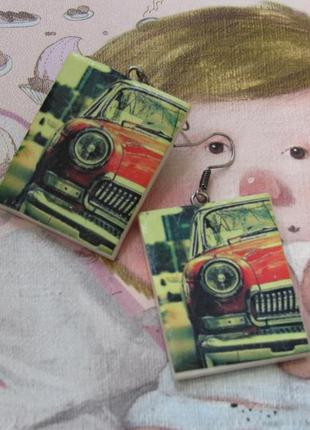 Оригинальные серьги hand made
