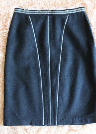 Юбка blumarine италия шерсть оригинал virgin wool