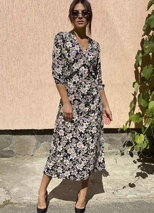 Платье миди в цветочный принт❤️