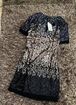 Нарядное платье в пайетках next