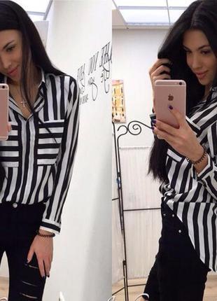 Шифоновая рубашка в полоску zara