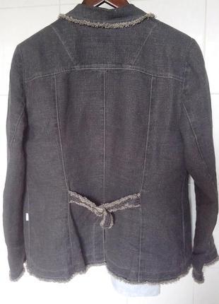 Льняной жакет лен пиджак льон xl