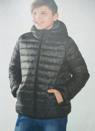 Легкая демисезонная термо куртка 146р peppers lupilu для мальчика хлопчика