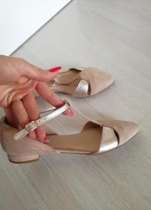 Босоножки туфли kiomi оригинал нубук с кожей размер 36-36.5