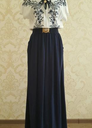 Платье льняное длинное в пол