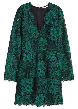 Новое кружевное платье от h&m 44 размер