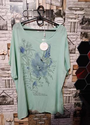 Туника- футболка женская большого размера 56-60
