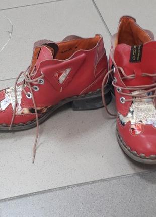 Винтажные женские фирменные кожаные ботинки,tma/5159,оригинал