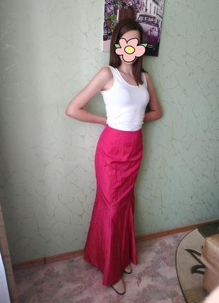 Длинная розовая юбка john charles