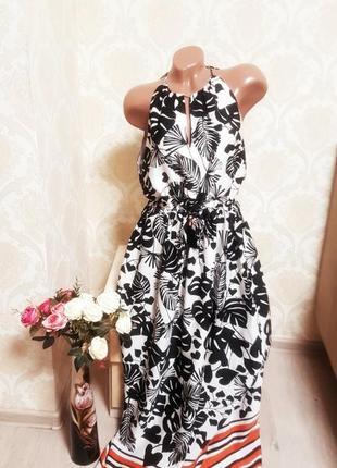 Шикарное платье ,сарафан, легкое, контрастное h&m