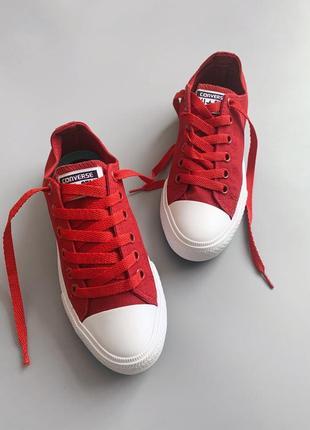 Распродажа! кеды converse chuck taylor 2 red, конверсы красные кеды