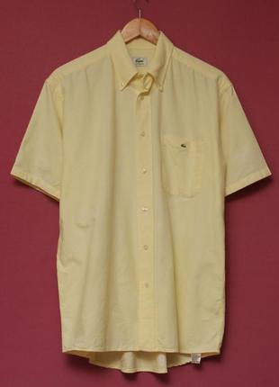 Lacoste 40 l рубашка из хлопка