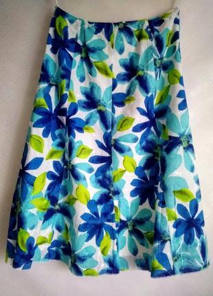 Стильная летняя юбка спідниця на літо marks & spencer
