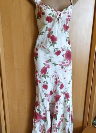 Очень красивое платье рыбка цветочный принт, размер м-л