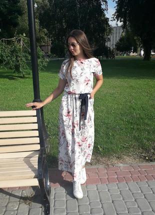 Лёгкое платье в пол