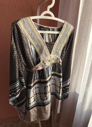 Атласная туника блузка