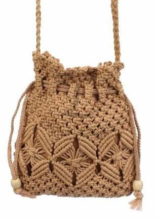 Вязаная сумочка через плечо клатч