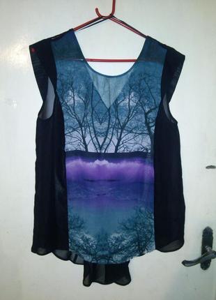 Эффектная,красивая,стильная,воздушная -блуза-туника с удлиненной спинкой,george