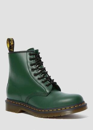 Черевики dr. martens 1460 зелені smooth leather original