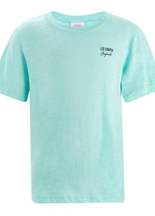 Мятная футболка lee cooper 100 хлопок