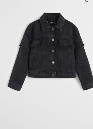 Новая джинсовая куртка mango на  3-4года