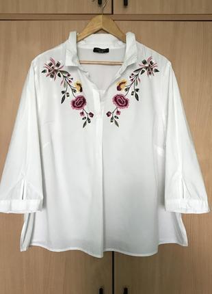 Красивая блуза распашонка с вышивкой от new look