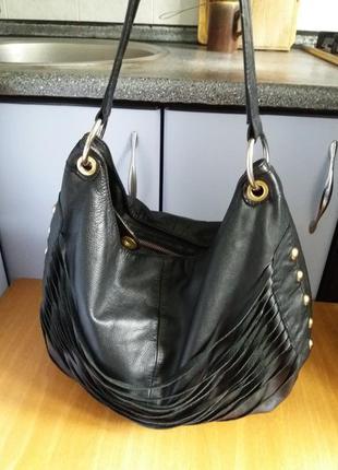 Супер стильная сумка шопер zara из натуральной кожи