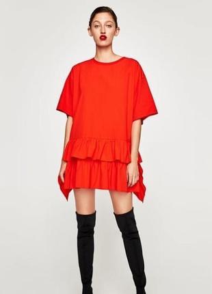 Платье поплин/оверсайз/oversaize zara
