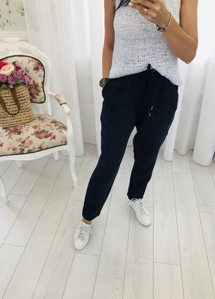 Джогги льняные штаны брюки чиносы h&m