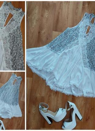 Платье свободное сарафан кружево туника