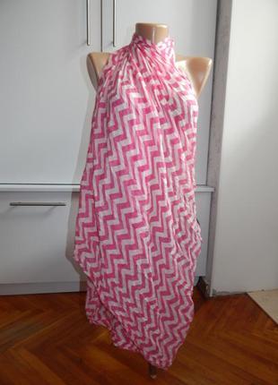 Next шарф парео вискозный модный