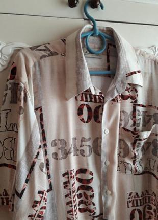 Хлопковая нарядная рубашка