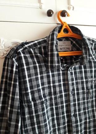Хлопковая нарядная рубашка в клетку