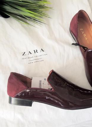 Нові туфлі, балетки  zara, 37розмір1