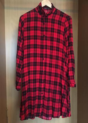 Платье-рубашка в клетку cropp