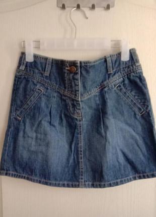 Стильная джинсовая юбка тонкий джинс