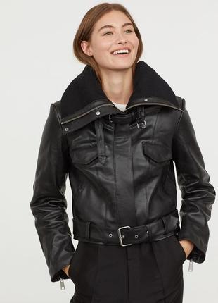 💥💥 эксклюзивная кожаная куртка от h&m studio