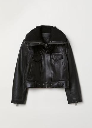 💥💥 эксклюзивная кожаная куртка от h&m studio3 фото