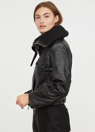💥💥 эксклюзивная кожаная куртка от h&m studio4 фото