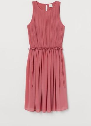 Шифоновое платье плиссе.