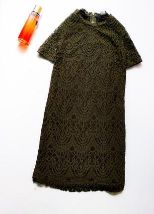 Стильное и красивое платье ажурное прямого кроя