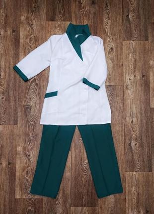 Практичный женский медицинский или фарм костюм медицинский халат куртка и штаны брюки