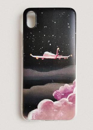 Чехол на телефон с самолетом для xiaomi redmi 7a. силиконовый чехол самолет