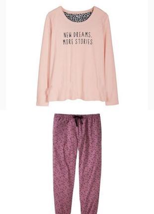 Пижама женская реглан и брюки домашний костюм
